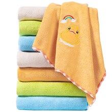 ZhangJi Microfiber Fabric Cartoon Rainbow Animals Multipurpose Towel Quick-drying Absorbent Durable Soft Towel 75*35cm кошелек fabric animals