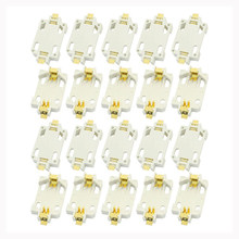 FULL-20pcs White Housing CR2032 SMD Cell Button Battery Holder Socket Case(China)