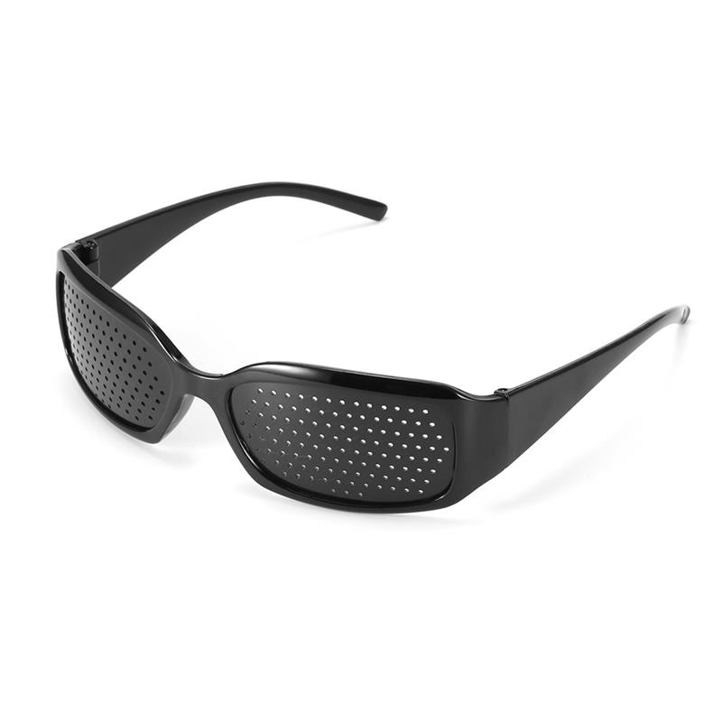High Quality Black Unisex Vision Care Pin Hole Eye Exercise Eyeglasses Improve Plastic  Pinhole Glasses Eyesight