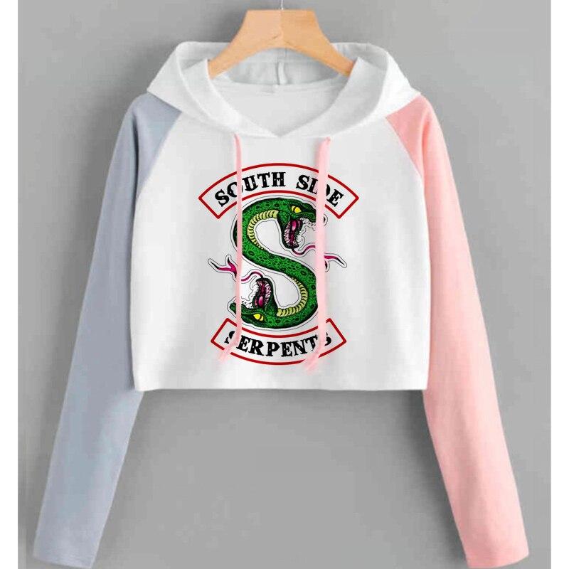 Riverdale Hoodie Sweatshirts South Side Serpents Streetwear Tops Frühling Hoodies Weibliche Mit Kapuze Harajuku Herbst Winter Sweatshirt