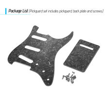 SSS Electric Guitar Pickguard Set with Back Plate Screws Pick Guard for American ST Style Guitars White /Red/Black/Blue Pearl(China)