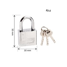 3 Keys Stainless Steel Padlock Stainless Steel Durable Use Heavy Duty High Security Solid Lock Door Gate Box Safety Lock Tool