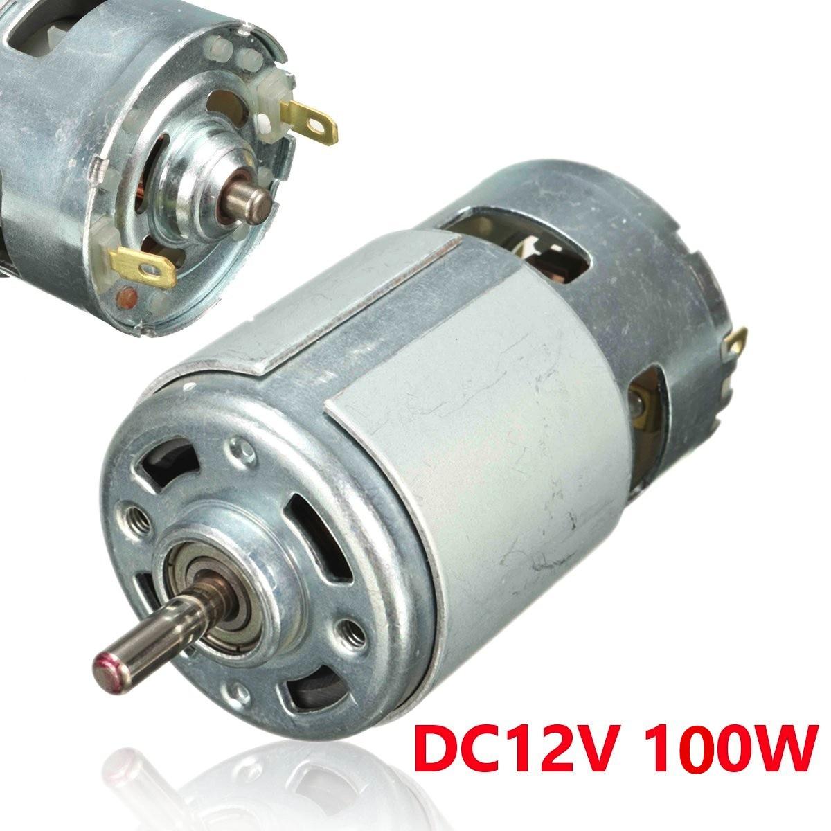 90 Watt High Speed and Torque Long 13.5 V DC Motor 3.17mm Shaft 18000 RPM