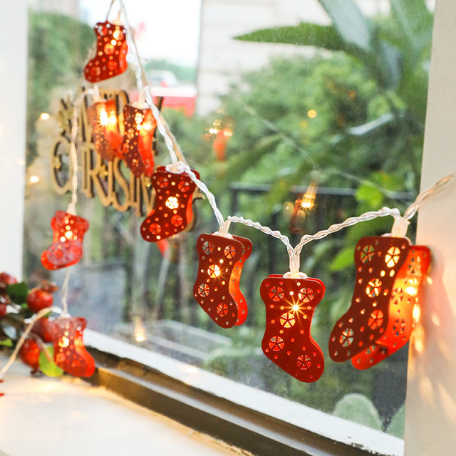Novelty Led Fairy Lights Christmas Stocking 1 5m 10 String Battery Operated Tree Decoration Light Up Toys