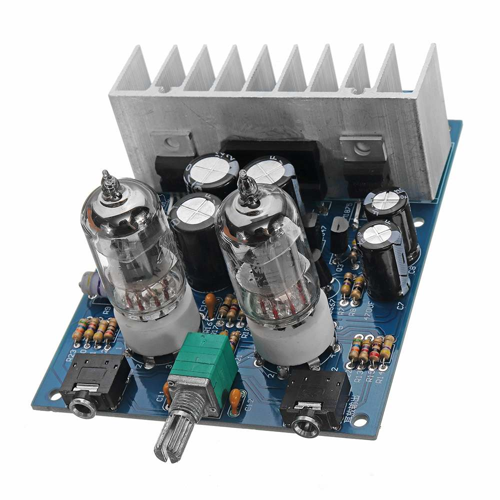 LEORY DIY Hifi Fever <font><b>6j1</b></font> Electron Tube Front Pushing Small Power Amplifier Tube Power Digital Amplifier Board Amp DIY Kit image