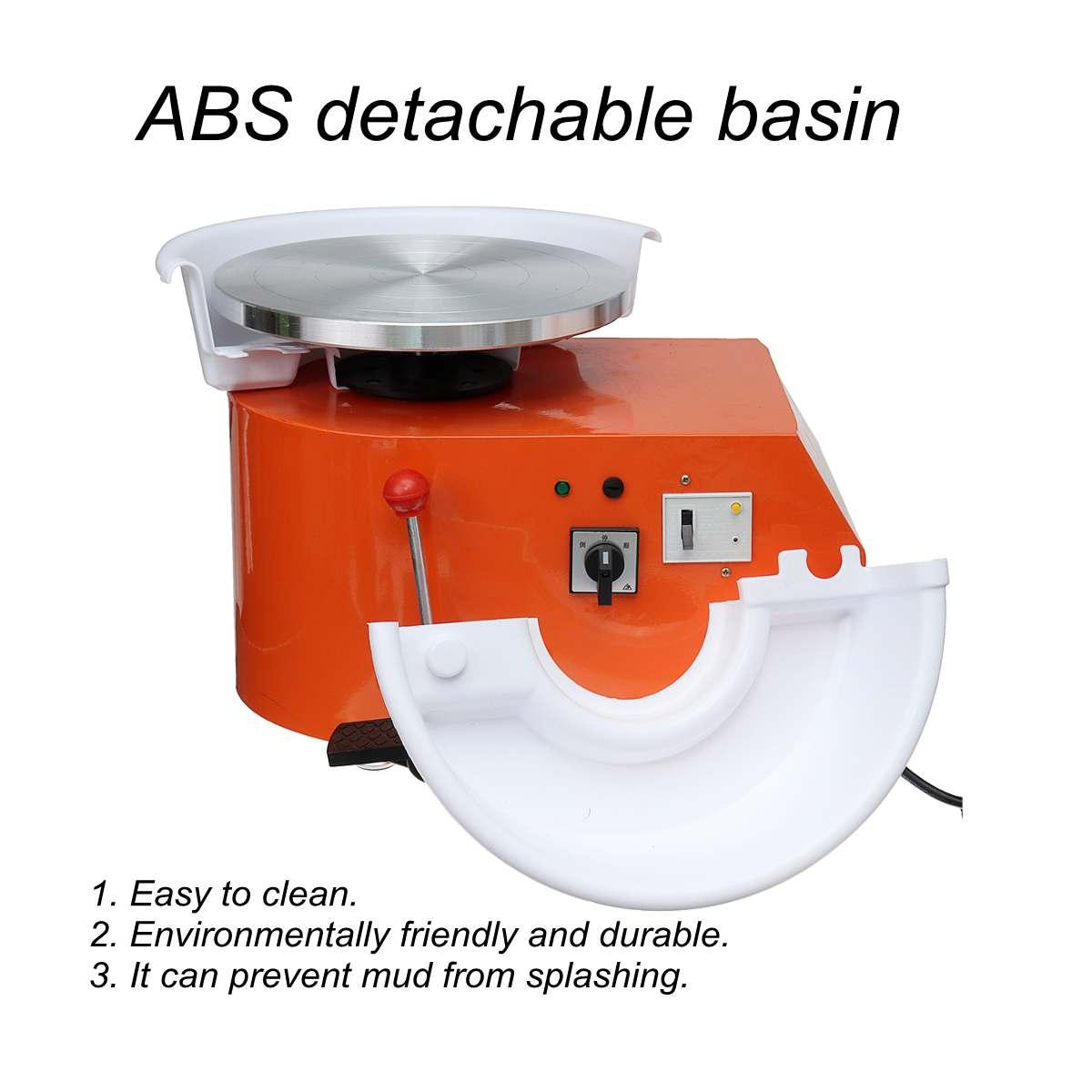 Tournant la Machine en céramique de roue de poterie électrique 220 V 550 W 300mm Kit de potier d'argile en céramique pour la Machine d'apprentissage en céramique de travail en céramique - 6