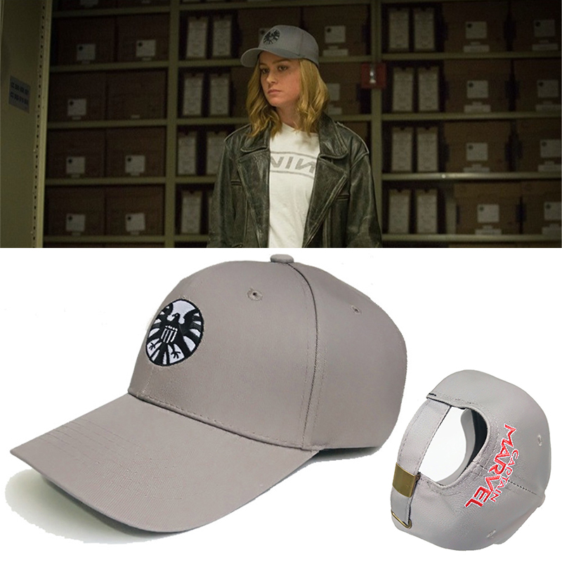 New Captain Marvel Carol Danvers Caps Unisex Adjustable Hip Hop Sun Hat Snapback Agents of S.H.I.E.L.D. Shield Baseball Caps