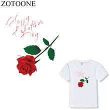 ZOTOONE Flower Patch Iron On Transfers Badge Stickers For Clothes DIY Heat Thermal Rose Patches for Clothing Applique Embroidery
