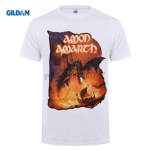 GILDAN Amon Amarth Mens Sea of Blood Tour T-Shirt Black Hipster Tee Shirt Homme Men Funny O Neck Short Sleeve Cotton T