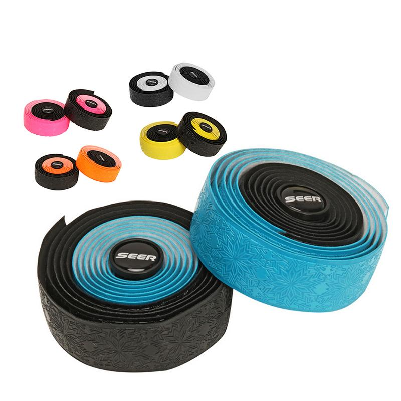 Road <font><b>Bike</b></font> Bicycle Handlebar tape <font><b>Camouflage</b></font> Cycling Handle Belt Cork Wrap 5 Colors PU Leather Anti-slip Bicycle Grips <font><b>Bike</b></font> Tape image