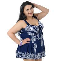 Large Size Swimsuit Women 2019 One Piece Swimwear Sleeveless Backless Black Sapphire Printed Ultrashort Bathing Suit For Female