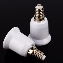 5Pcs E14 TO E27 Adapter Conversion Socket Mutual Conversion Lamp Holders Light Fireproof Socket Lampholders For LED Bulb цены онлайн