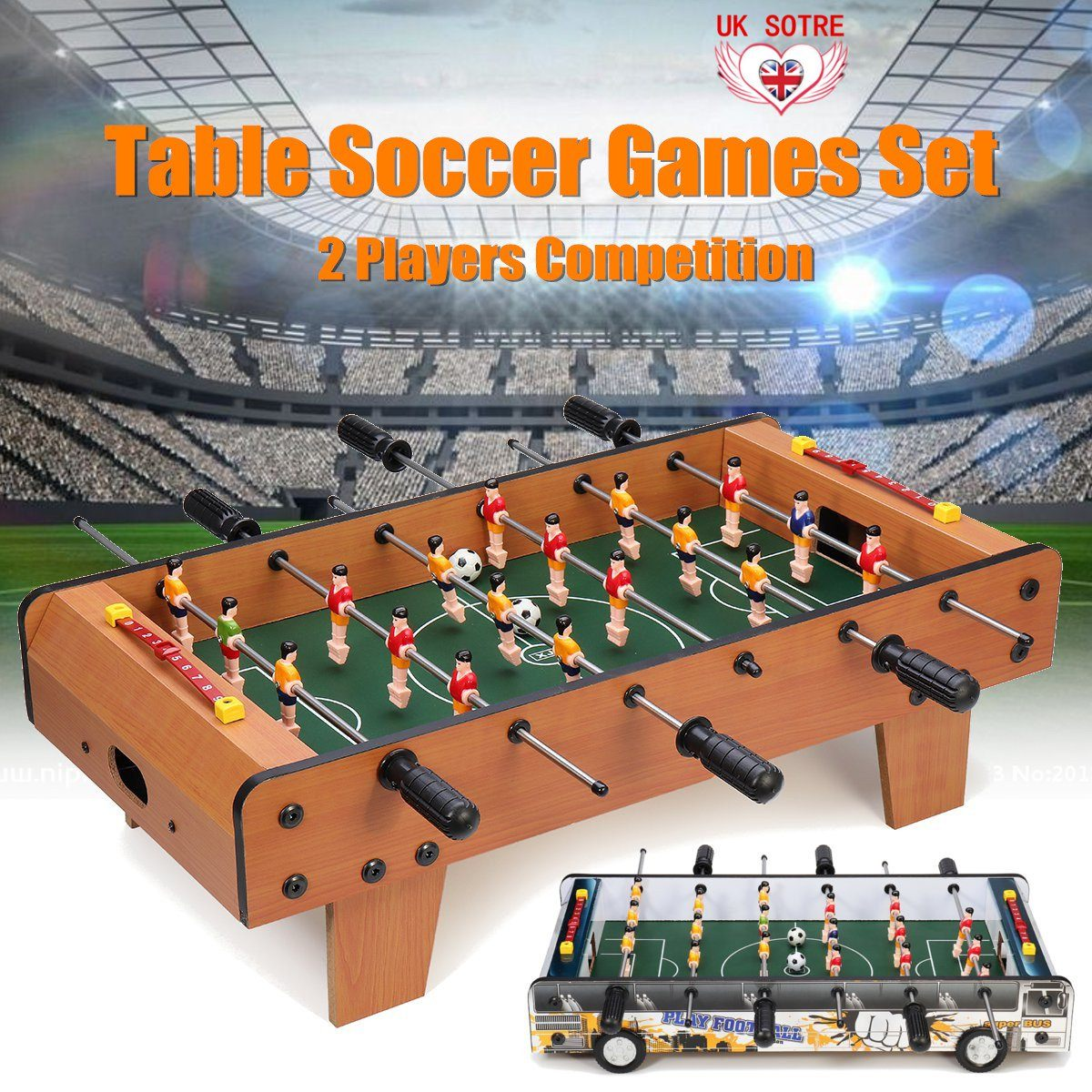 61x31x20cm MagiDeal Funny Table Foosball Soccer Games Table Top Sports Home Family Party Leisure Table Game Kids Toys Gifts61x31x20cm MagiDeal Funny Table Foosball Soccer Games Table Top Sports Home Family Party Leisure Table Game Kids Toys Gifts