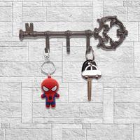 Decorative Wall Mounted Cast Iron Key Holder Vintage Key Hanger Rack With 3 Hooks Screws Anchors European Retro Ornament