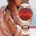 ①  Женские роскошные наручные часы Ceasuri Кварцевые часы Женское платье из нержавеющей стали с ремешко ★
