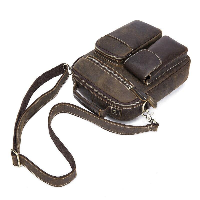 Fashion Crazy Horse  Leather Briefcase Men Retor Mens Vintage Handbag Famous Brand Solid Mens Messenger Bag Luxury Sac HommeFashion Crazy Horse  Leather Briefcase Men Retor Mens Vintage Handbag Famous Brand Solid Mens Messenger Bag Luxury Sac Homme
