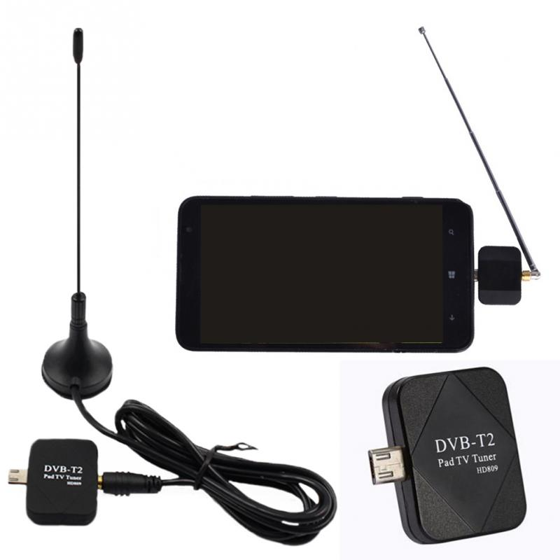 Mini Micro USB Tuner TV Receiver + Antenna For Android Smart-phone Tablet PROFESSTION Digital DVB-T2 DVB-T TV Receiver + Antenna