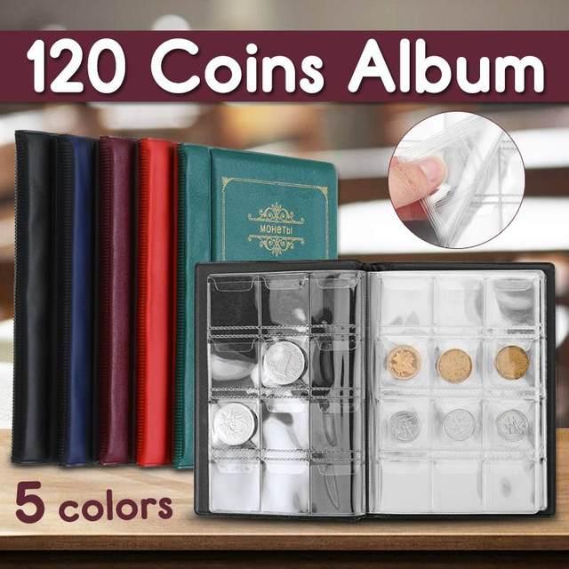 120 כיסי מטבעות אלבום אוסף ספר מיני אגורה מטבע אחסון אלבום ספר איסוף מטבע מחזיקי עבור אספן ספקי מתנות