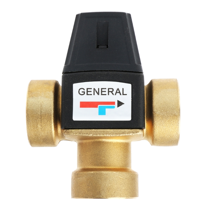 Solar Water Heater Valve 3-Way Thermostatic Mixer Valve 3 Way Male Thread Thermostatic Mixing Valve Bathroom Shower Faucet