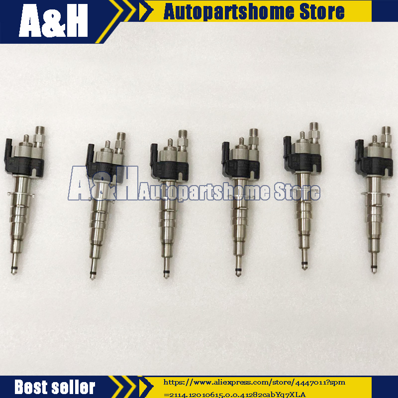 6x OEM Fuel Injector For BMW N54 135 335 535 550 750 650i 740i X6 13537585261-09