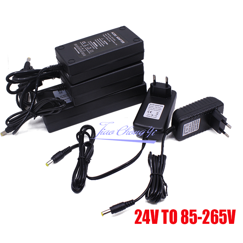 Power Adapter <font><b>AC</b></font> to <font><b>DC</b></font> 24V 1A 2A <font><b>3A</b></font> 5A Converter Transformer <font><b>24</b></font> v Power Supply Charger For LED Strip and logitech racing wheel image