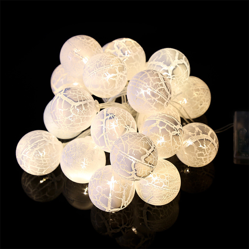 festival of lights Christmas decoration lighting LED ball with cracks string light Christmas tree decor light ornaments holiday
