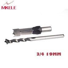 цена на 19mm 3/4'' Woodworking Square Hole Bits Drill Mortising Chisel Set 19mm/ 3/4 Mortiser Drills Bit Set