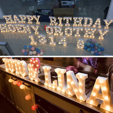 Christmas remote control decorative Party LED night light Letter lamp bedroom Club Bar clothing stores light desk LED lamps