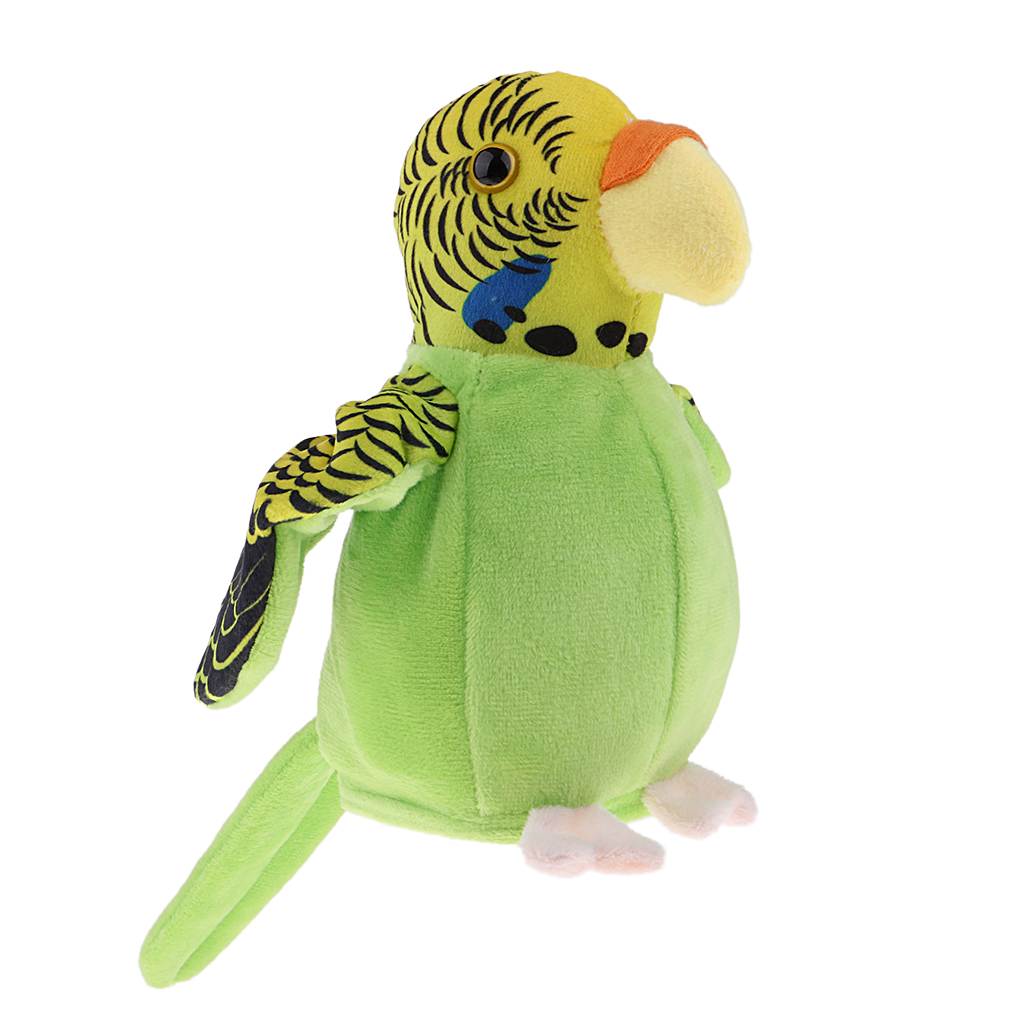 Beautiful Talking Green Parrot Repeats Bird Voice Sound Recorder Toy