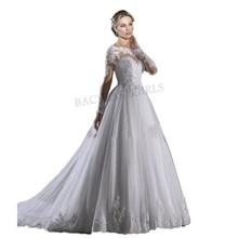 Corto Lace A Line Wedding Dress Luxury 2019 Bride Dresses