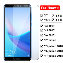 Protective Glass For Huawei Y5 Y6 Y3 Y7 Prime Ii 2018 2017 Screen Protector For Huawei Y6ii Y5ii Y3ii Tempered Glass Y 3 5 6 7(China)