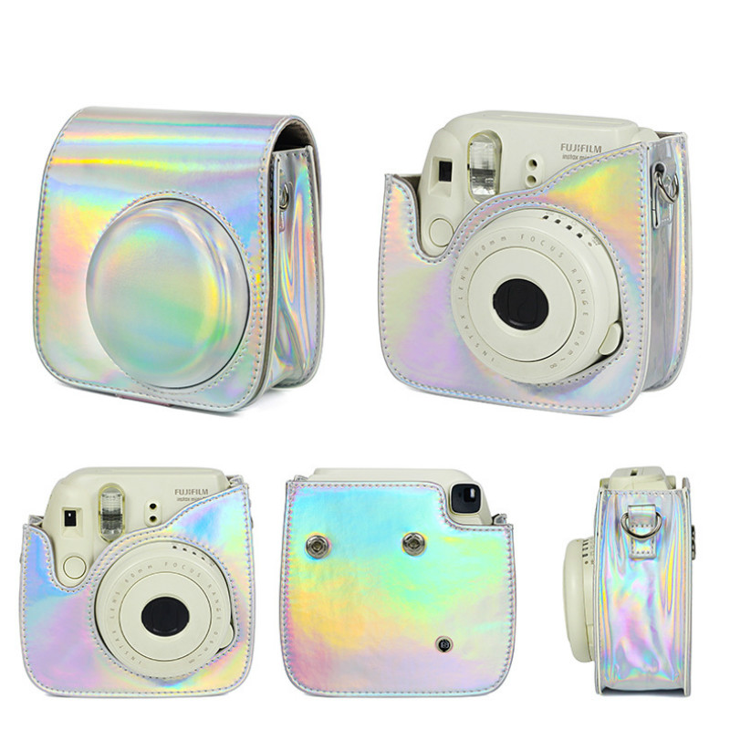 GEONYIEEK For Fujifilm Instax Mini 9 8 8 Case Artist Oil Paint Camera Shoulder Bag