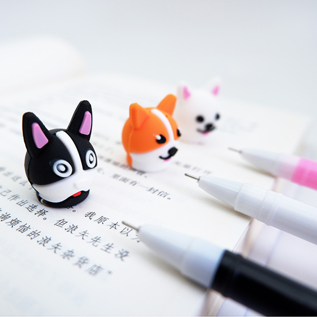 Cartoon Dogs Shaped Multicolor Gel Pens
