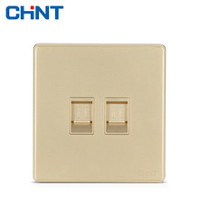 цена CHINT Wall Switch Socket Telephone Extension Kit NEW2D Two-wire Four Core Telephone Socket онлайн в 2017 году