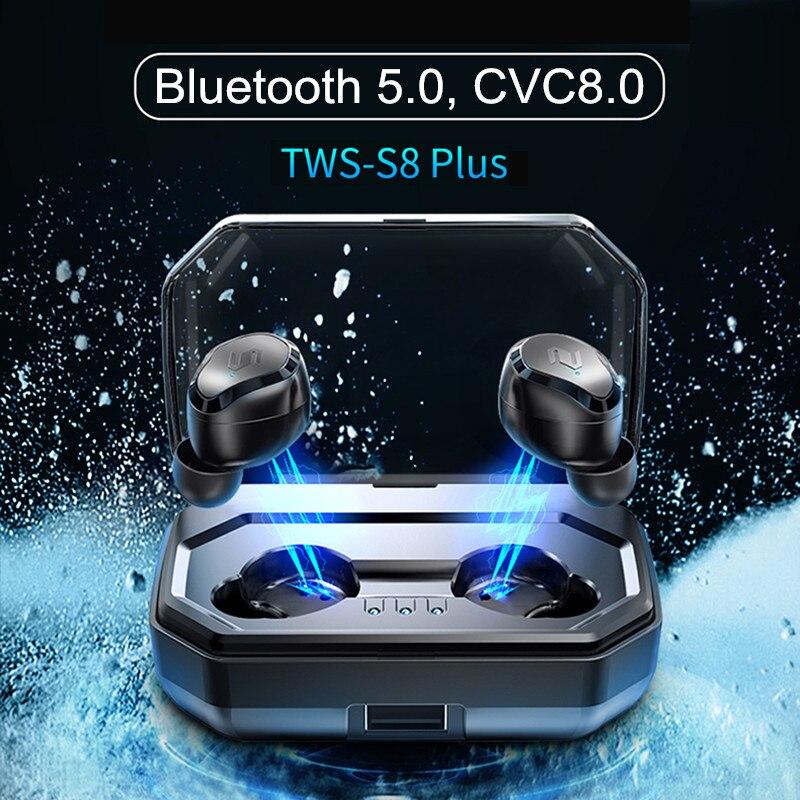 TWS True sans fil bluetooth 5.0 écouteur tactile casque étanche écouteurs suppression de bruit 3000 mAh batterie externe pour téléphone intelligent