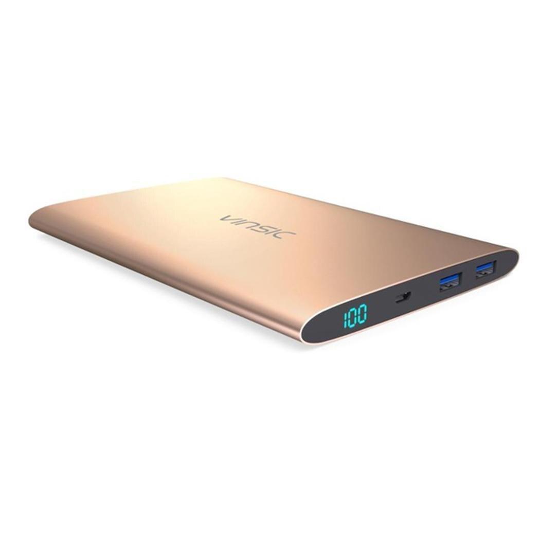 Vinsic Alien P7 Ultra mince 15000 mAh batterie externe Portable chargeur de batterie externe double USB pour iPhone X 8 8plus Samsung S8 S8 +