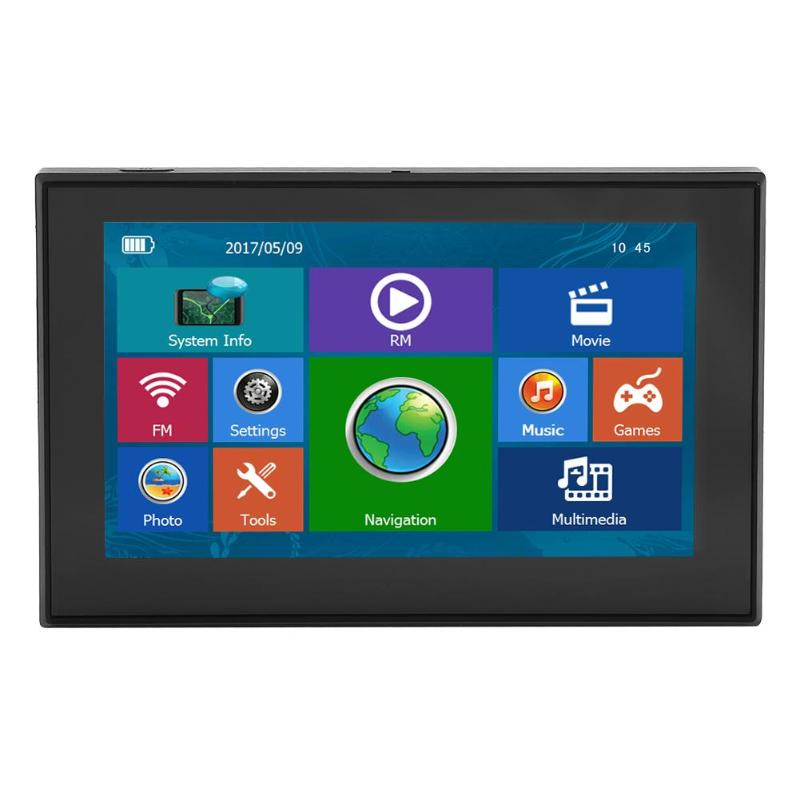 Car GPS Navigation Game-Player Truck Touch-Screen Video Win Ce 5inch Audio with Free-Map