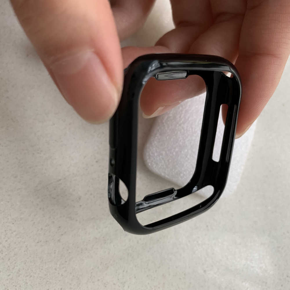 Funda protectora de TPU de silicona suave ultrafina para Apple Watch 4 Series 5 40mm 44mm marco carcasa perfecta que combina 40 44mm parachoques