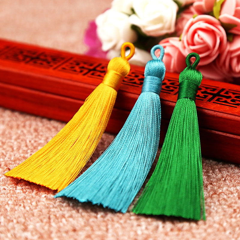 8cm Bohemia Long Silk Tassel High Quality 25 Colors For Bookmark For Earrings Handmade New Hot DIY Crafts Jewelry Accessories