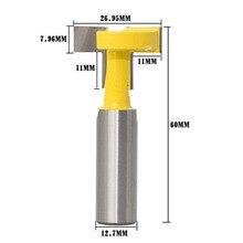 1 шт. 1/2 хвостовик 1/2 Т-шлицевая фреза Маршрутизатор Зенковка для деревообработки фрезерный инструмент