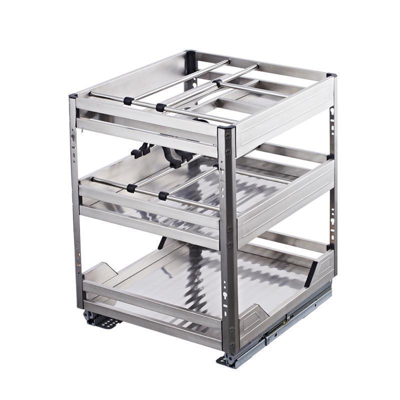 Cucina De Despensa Organizador Armario Stainless Steel Cuisine Organizer Cocina Kitchen Cabinet Cestas Para Organizar Basket in Racks Holders from Home Garden