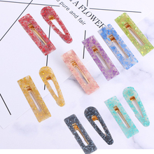 Shiny Geometric Women Girls Hair Accessories Acrylic Tin Foil Sequins Barrettes Clips Waterdrop Hairpins