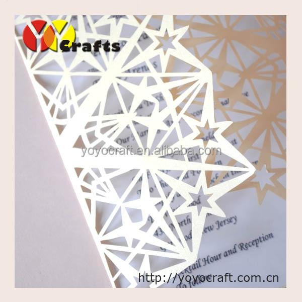 invitation cards for wedding 50sets lot laser cut star wedding