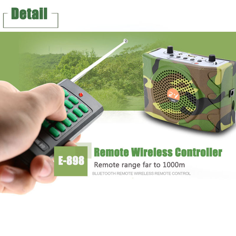 Outdoor 38W Sound Wireless Remote Control Amplifier Teaching Speaker FM Radio USB Hunting Decoys Loud Speaker Bird Caller MP3