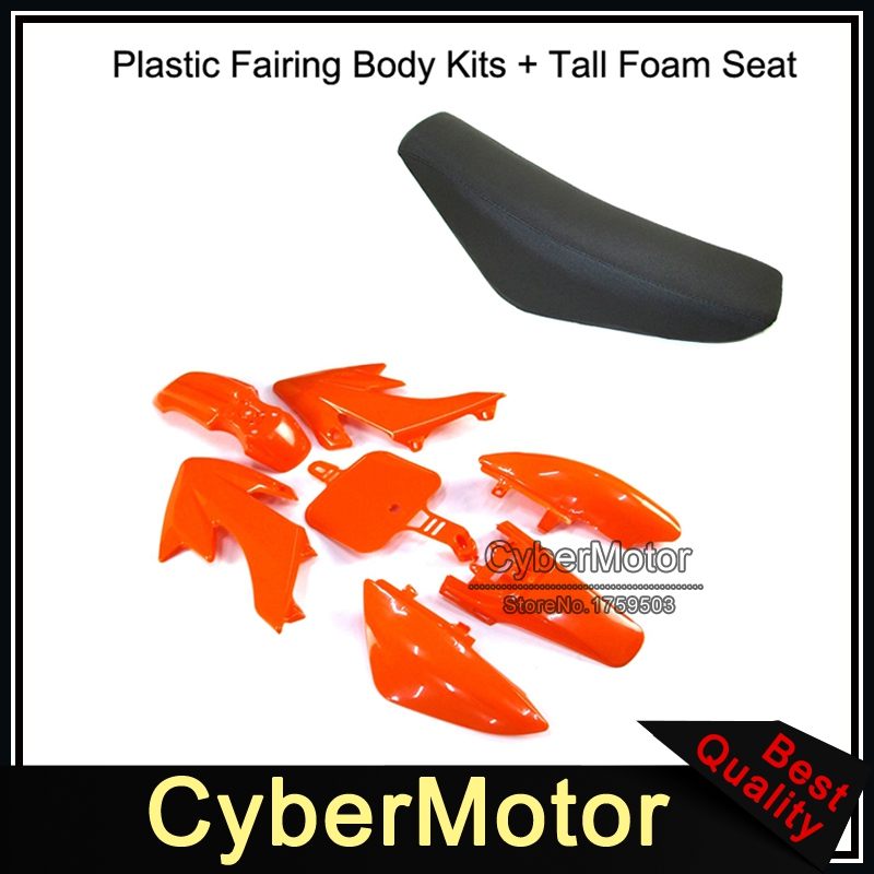 Kits de carénage en plastique + siège en mousse haut pour CRF50 XR50 SSR YCF IMR Atomik thupstar esb Apollo Kayo Pit Bike