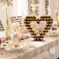 Wedding Decoration Wooden Chocolate Display Stand Holder Decorations Wedding Supplies for Banquets Anniversary Celebrations