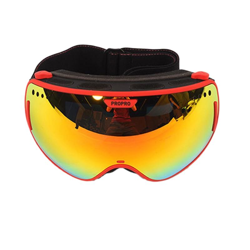 Lunettes de Ski professionnelles de marque PROPRO 2 Double lentille grandes lunettes de Ski sphériques hommes femmes lunettes de neige, SG-0305