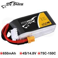 Tattu 14.8V 650mAh 4S Lipo Battery Pack 75C 150C with XT30 Plug for Babyhawk R 130 150 Size FPV Frame Quads Helicopter Airplane