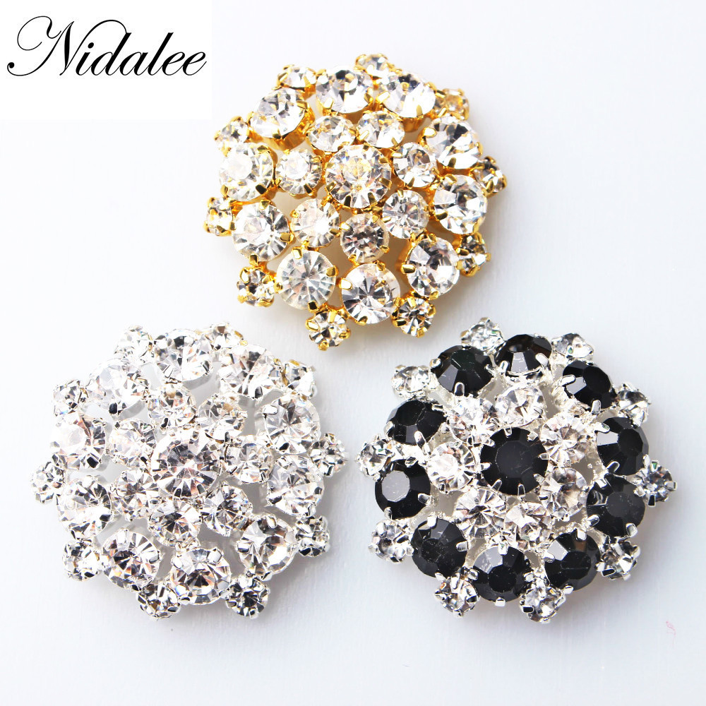 2x 10 Golden Crystal Diamante Flower Flatback Embellishment Craft Decor 20mm