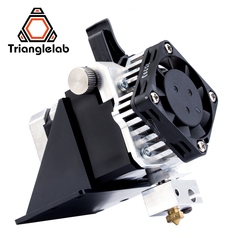 Trianglelab titan extruder full kit Titan Aero V6 hotend extruder full kit reprap mk8 i3 Compatible TEVO ANET I3 3d printer trianglelab 3d printer titan extruder new metal gear hobb hardened steel free shipping reprap mk8 i3